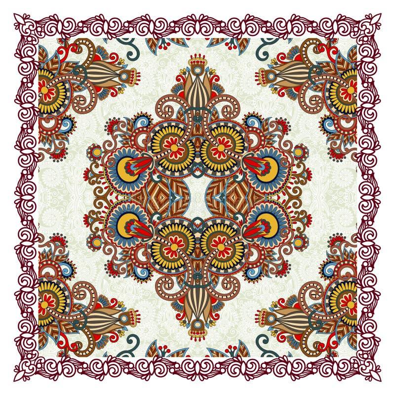 Download Traditional Ornamental Floral Paisley Bandana Stock Vector - Image: 25512123