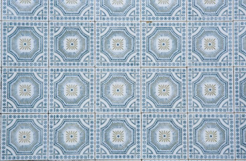 Traditional ornate portuguese decorative tiles royalty free stock photos