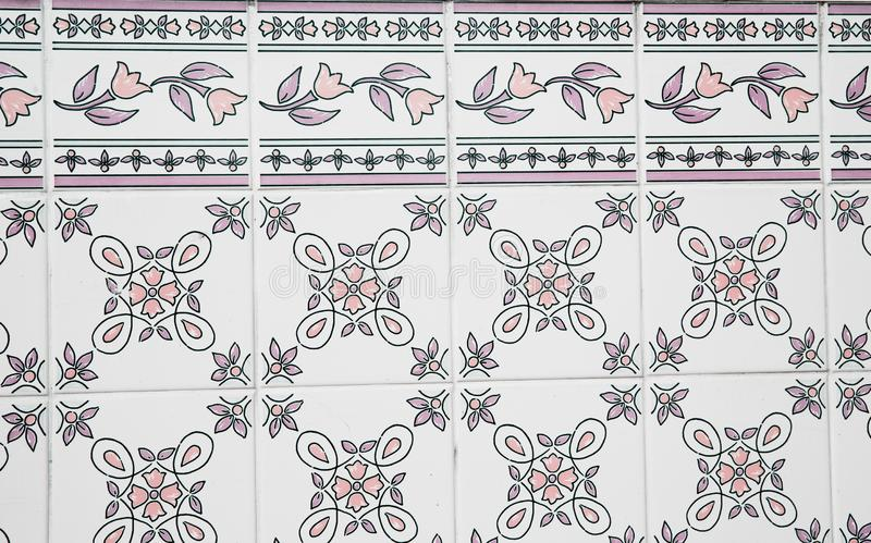 Traditional ornate portuguese decorative tiles stock image