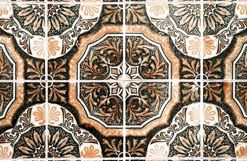Traditional ornate portuguese decorative tiles royalty free stock image