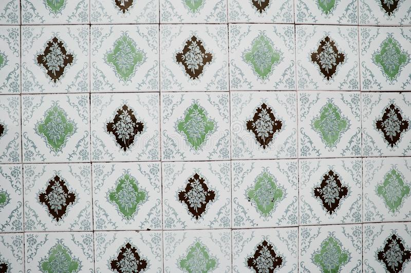 Traditional ornate portuguese decorative tiles stock photo
