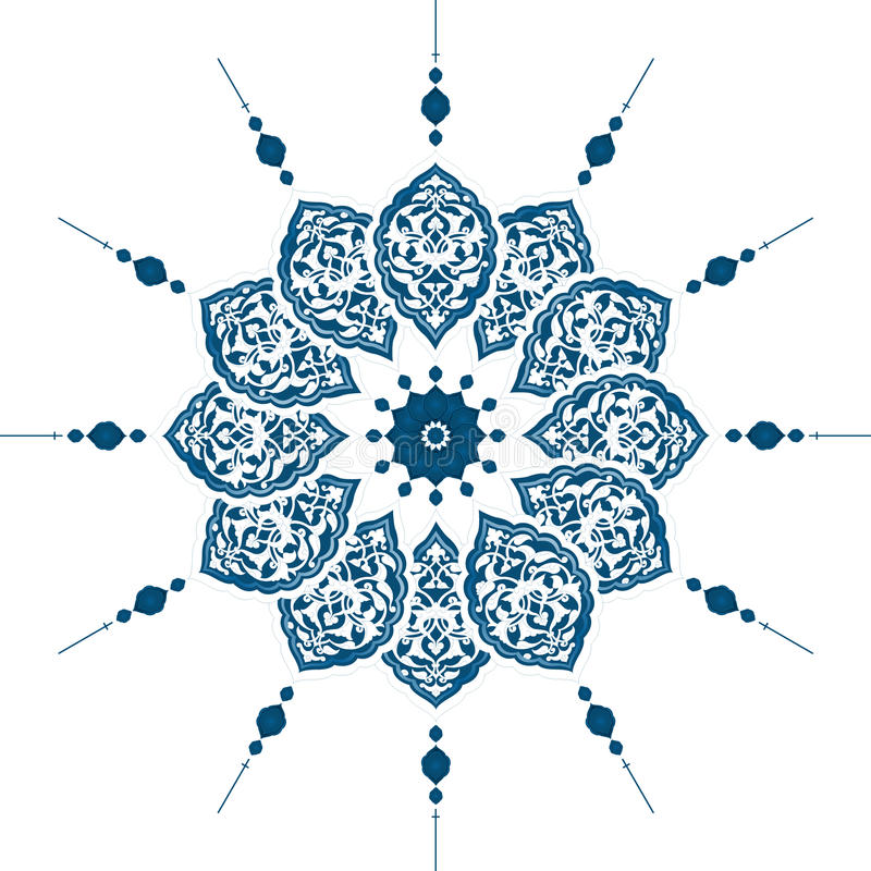 Traditional ottoman clean design stock illustration