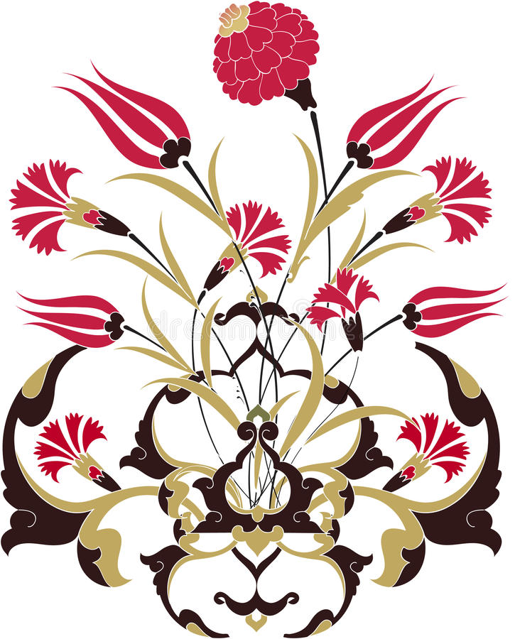 Traditional ottoman clean design