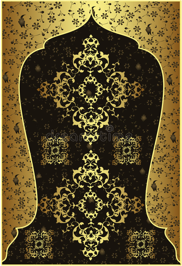 Traditional ottoman gold design stock photo