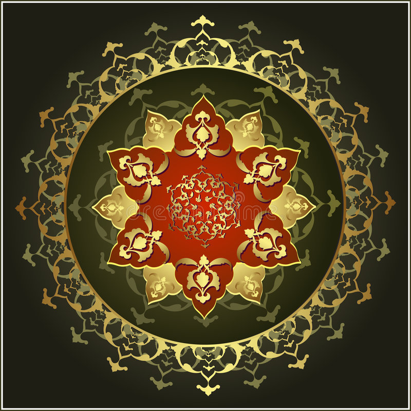 Traditional ottoman gold design royalty free stock photo