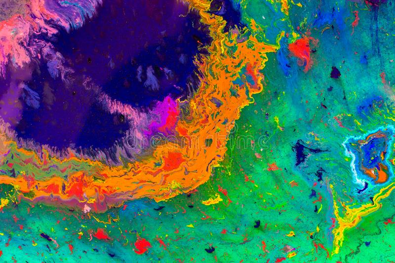 Abstract marbling art patterns as colorful background royalty free stock photos