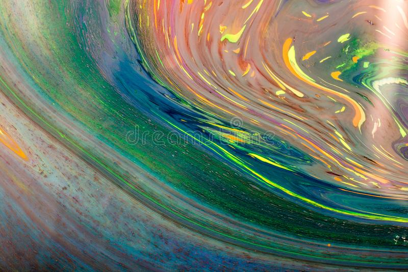 Traditional Ottoman Turkish marbling art patterns on colorful ba royalty free stock images