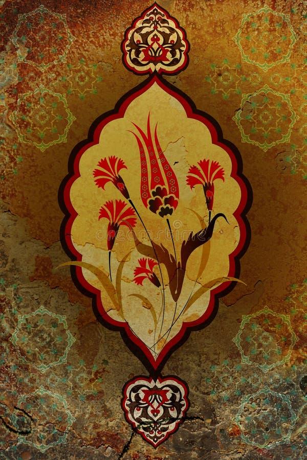 Traditional ottoman turkish seamless tile design stock image