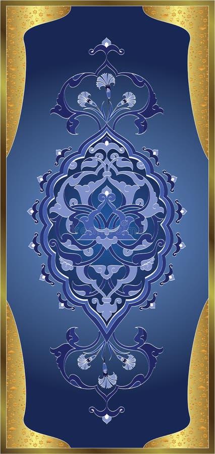 Traditional ottoman turkish tile illustration stock illustration