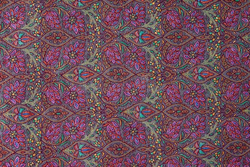 Traditional paisley pattern cashmere pashmina sample royalty free stock image