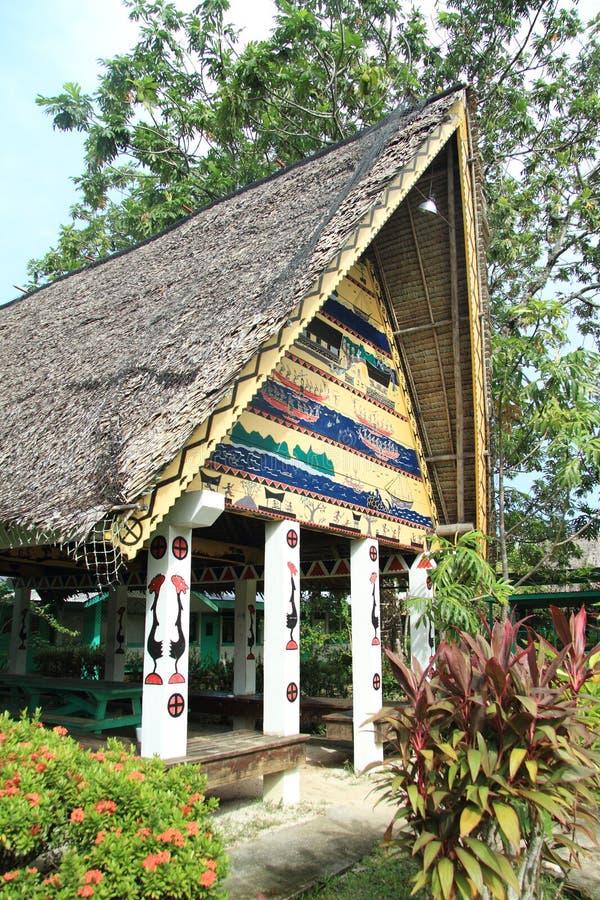 Traditional Palauan bay stock photo