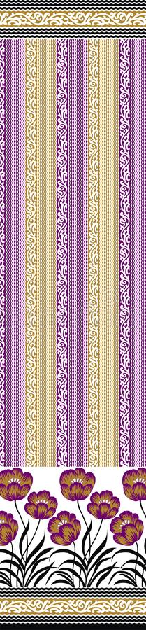 Traditional pallu and ALLOVER PATTERN ART design for print. Textile Indian ornament pattern art design Seamless Paisley beautiful Pattern Indian Seamless vector illustration