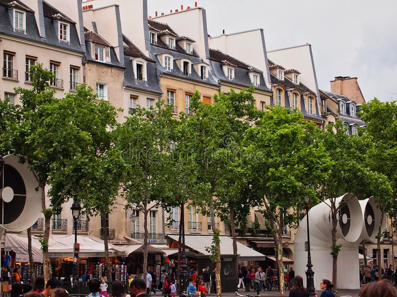 Traditional Parisian Attached Houses, Paris, France royalty free stock photo