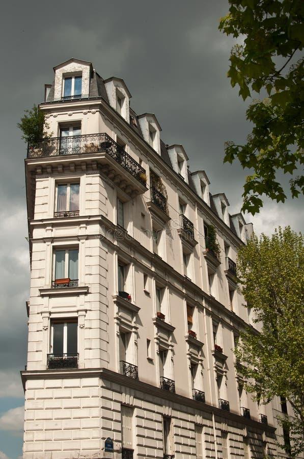 Traditional Parisian building stock photo