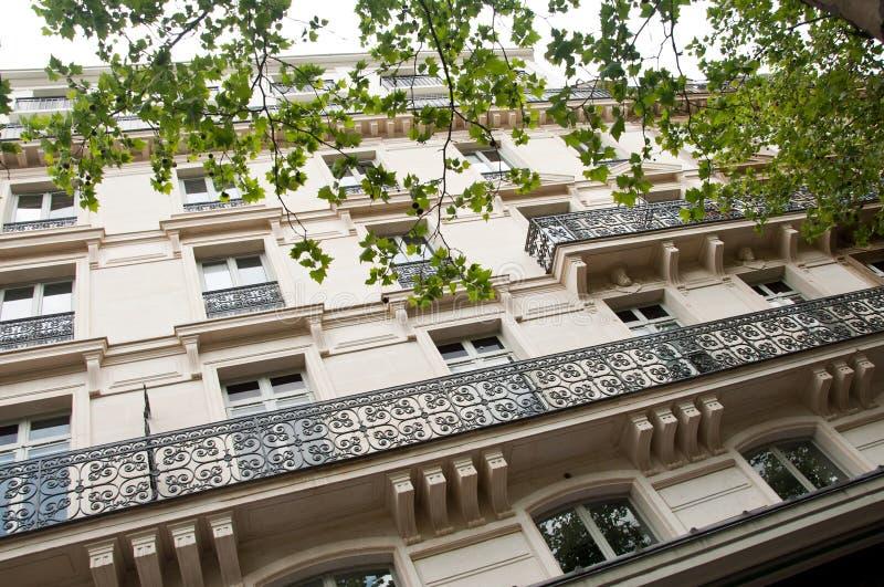 Traditional Parisian building royalty free stock photo