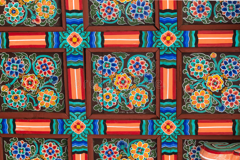 Traditional pattern in South Korea. Close-up. Traditional pattern in South Korea. Close-up stock images