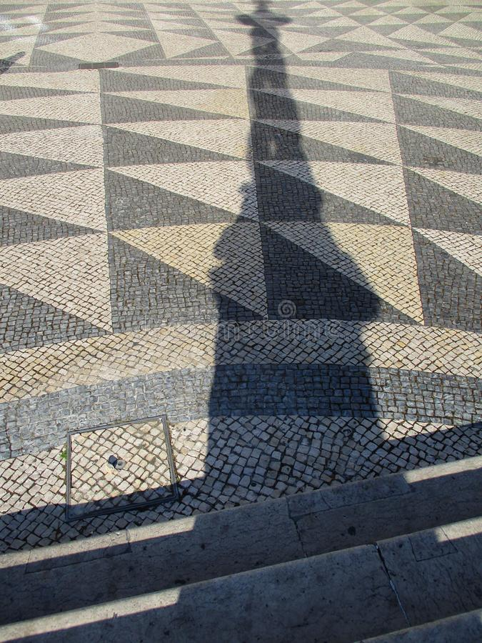 Typical floor in the sidewalks of Lisbon. Portugal. royalty free stock image