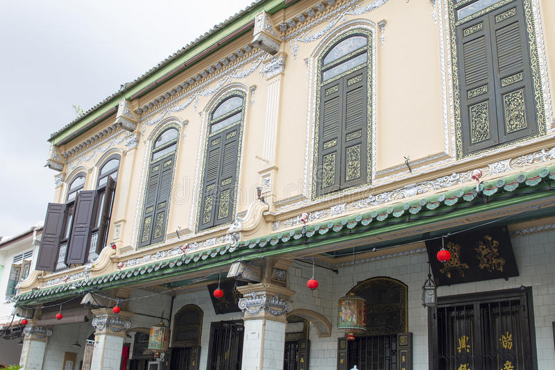 Traditional Peranakan Building royalty free stock images