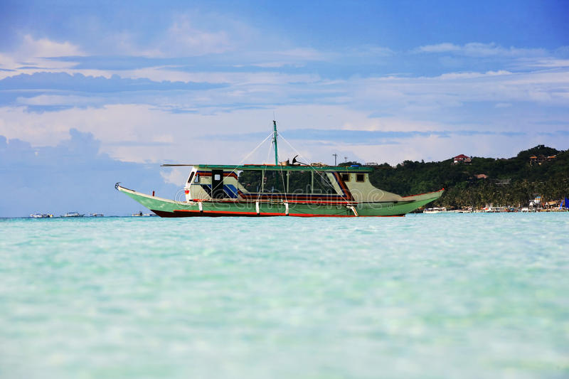 Traditional Philippine boat royalty free stock photography