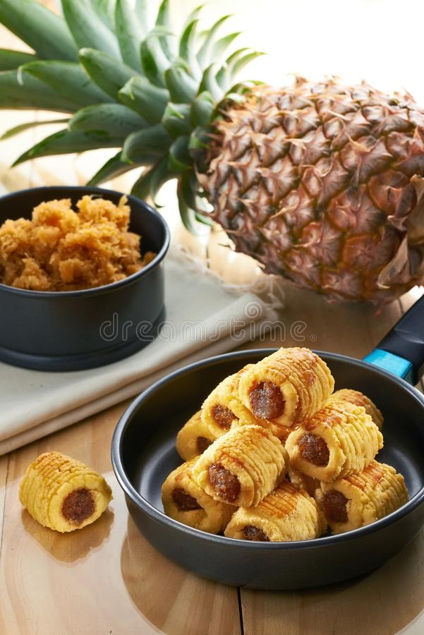 Traditional pineapple cookies royalty free stock photography