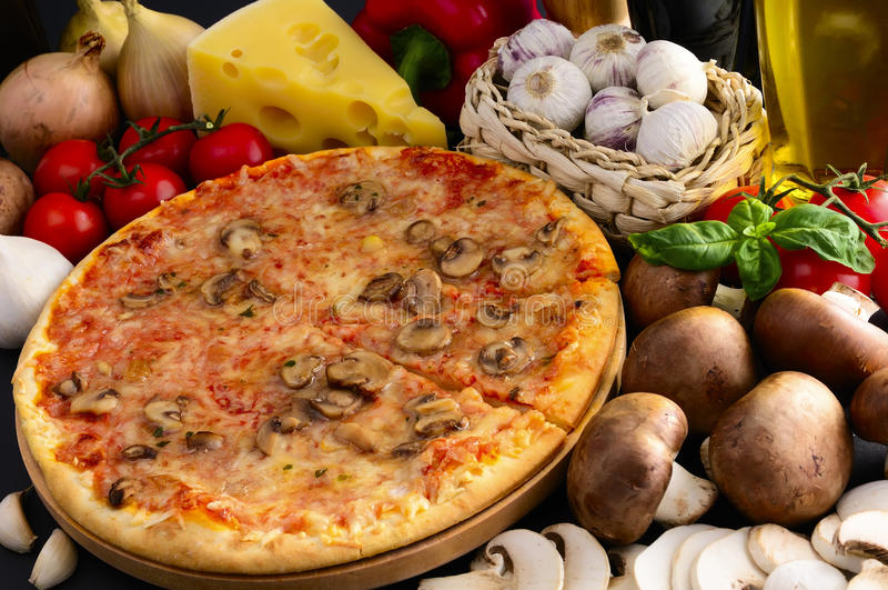 Traditional pizza royalty free stock image
