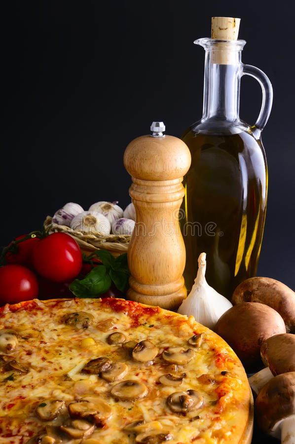 Download Traditional Pizza And Ingredients Stock Photography - Image: 18895252