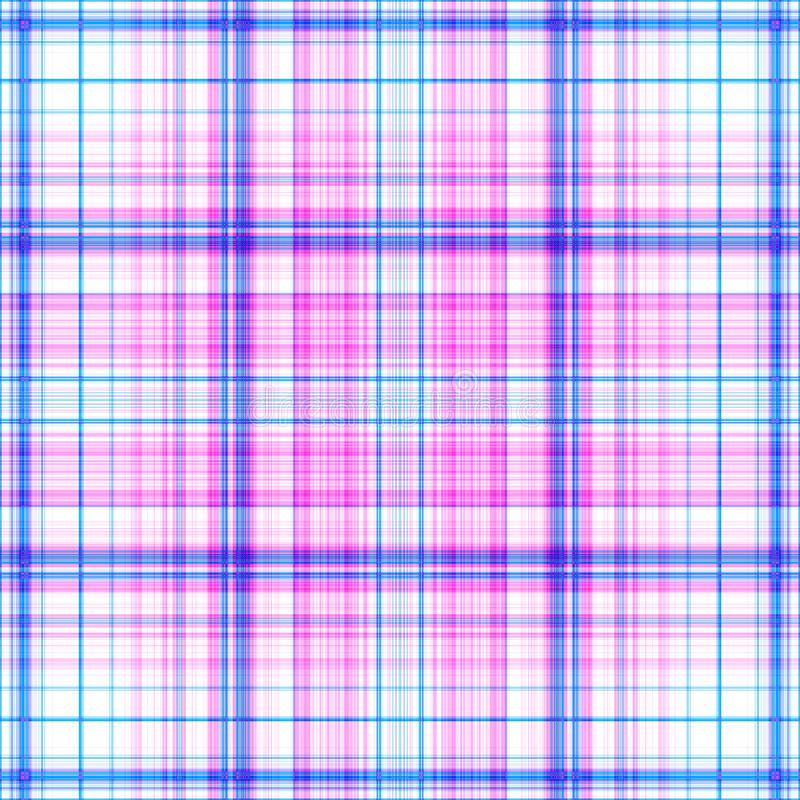 Pink and blue plaid pattern background royalty free stock images