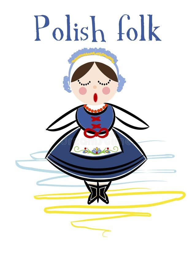 Traditional Polish Costume (Kaszuby) - Vector. Traditional Polish Costume (Kaszuby) - Vector illustration vector illustration