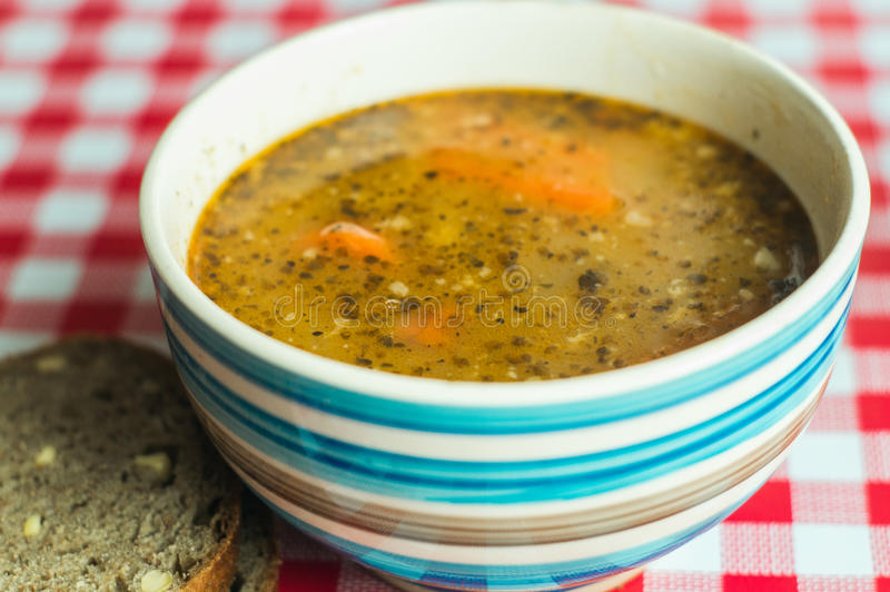Traditional polish tripe soup royalty free stock photos