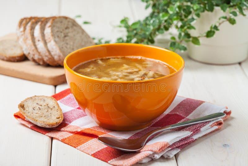 Traditional polish tripe soup with vegetables στοκ φωτογραφίες