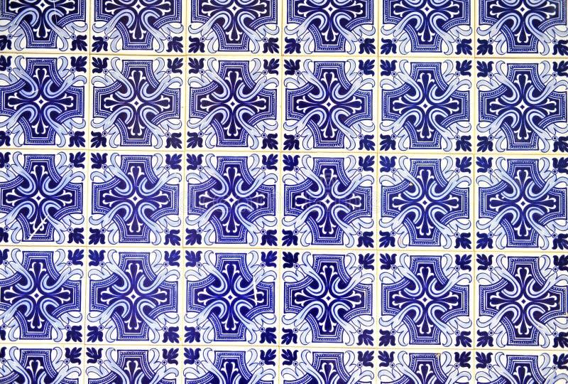 Traditional portuguese azulejos pattern stock photos