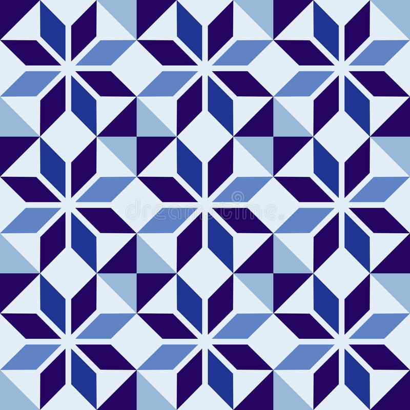 download traditional portuguese blue mosaic tile pattern stock vector image