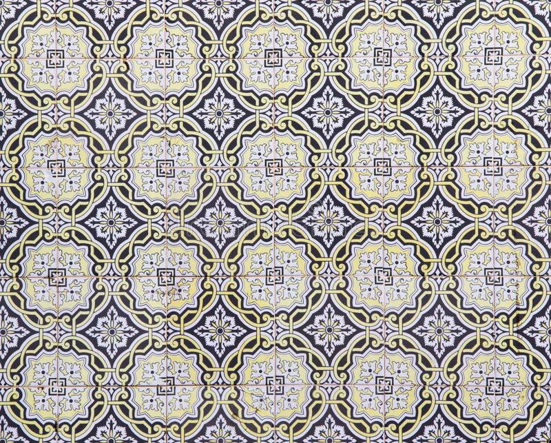 Traditional Portuguese ceramic tiles, pattern royalty free stock photos