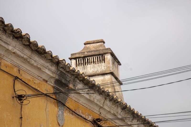 Traditional portuguese chimney stock images