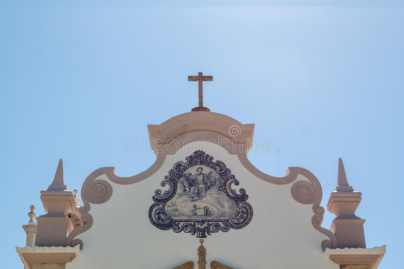 Traditional Portuguese Details of Catholic Church Algarve royalty free stock image