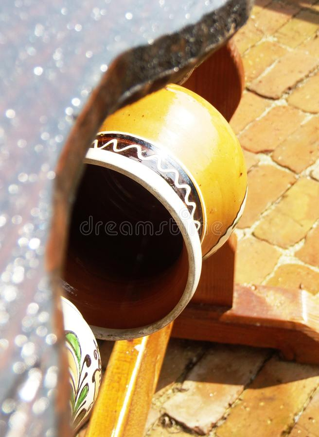 Traditional pot hand-painted royalty free stock image