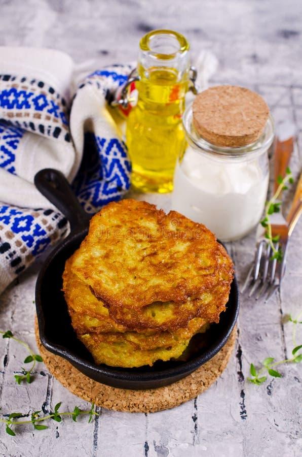 Traditional potato pancakes stock image