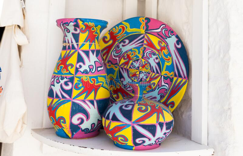 Alberobello pottery royalty free stock images