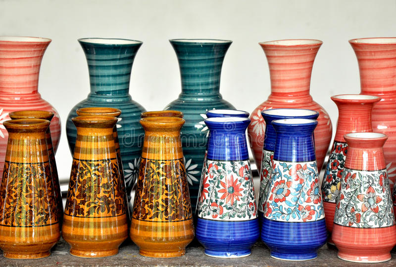 Traditional pots royalty free stock photography