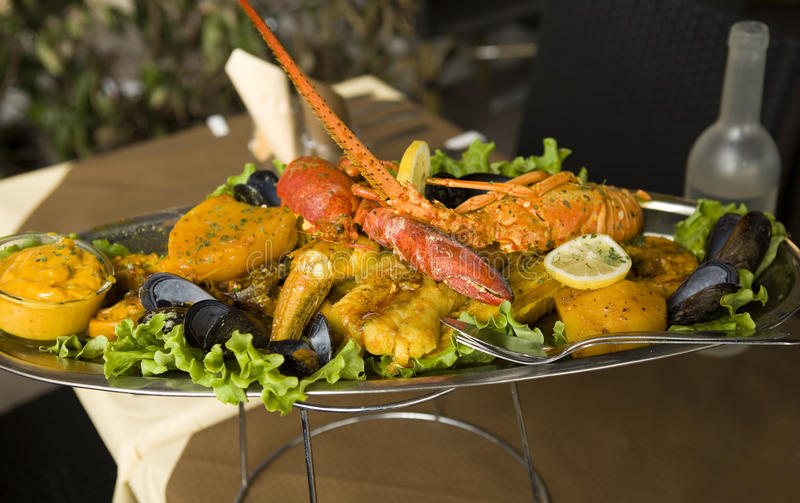 Traditional Provencal fish stew bouillabaisse stock photos