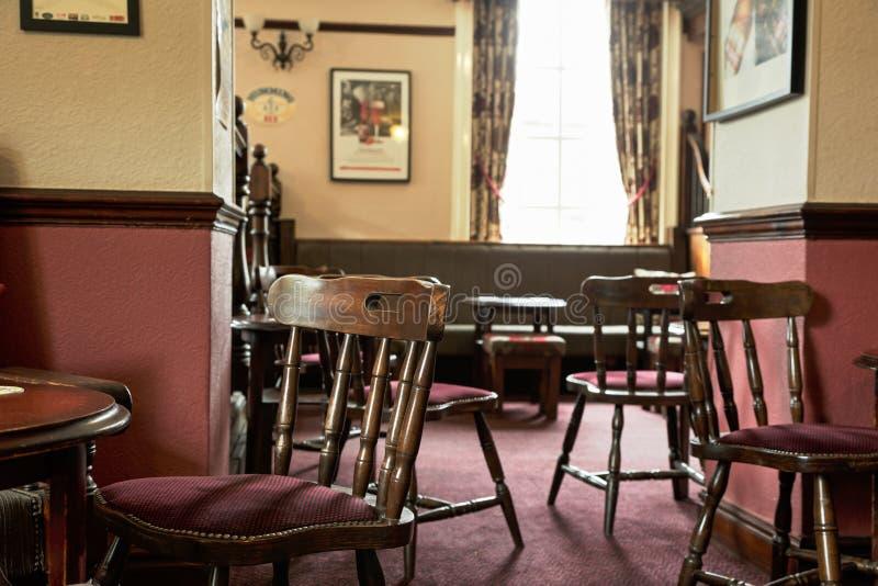Traditional British pub interior stock images