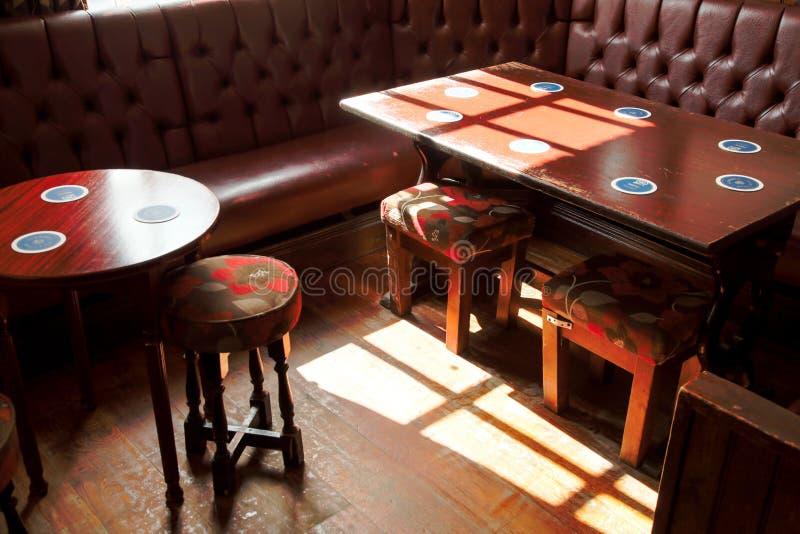 Traditional British pub interior stock photo