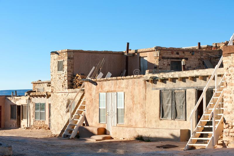 Traditional pueblo dwellings royalty free stock images