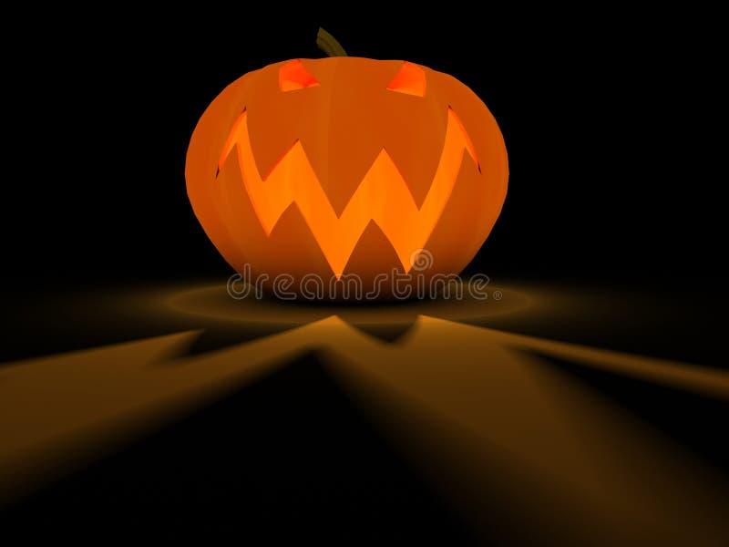 Traditional pumpkin on Halloween stock illustration