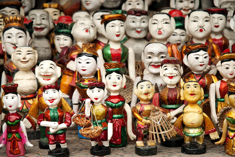 Traditional puppets in hanoi vietnam stock photography