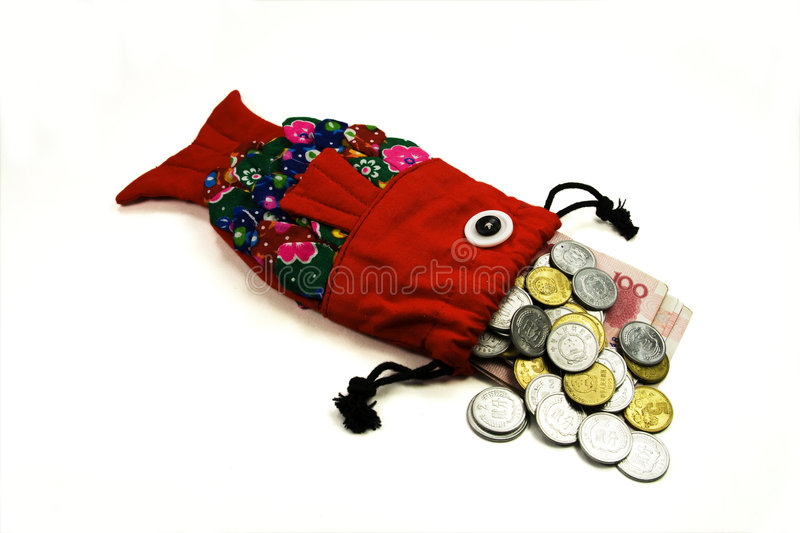 The traditional purse royalty free stock photo