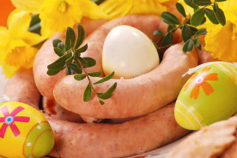 Download Traditional Raw Sausage For Easter Stock Image - Image: 12390217