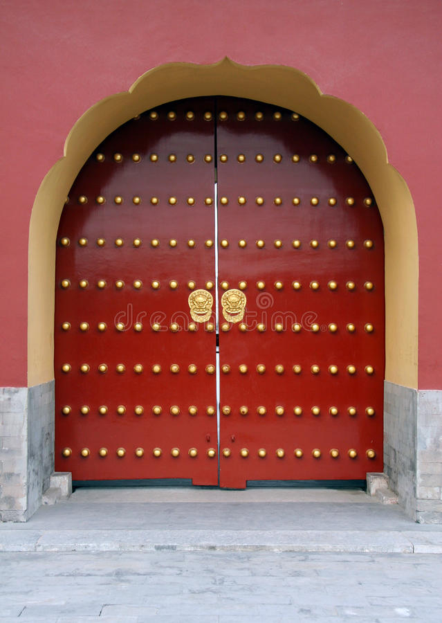 Download Traditional Red Chinese Door Stock Photo - Image of asian classic 14912714 & Traditional Red Chinese Door Stock Photo - Image of asian classic ...