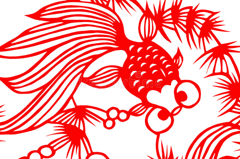 Download Traditional Red Paper Cut Fish Royalty Free Stock Images - Image: 6126599