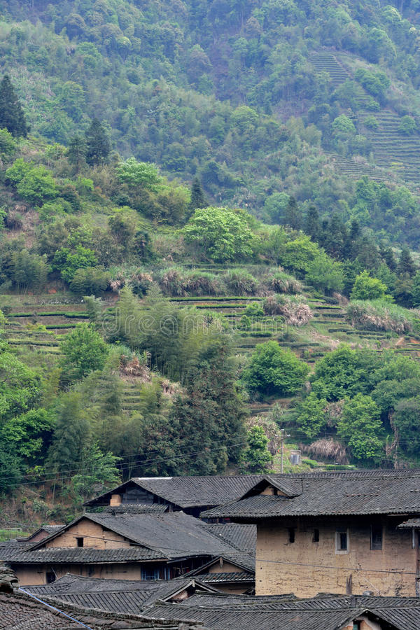 Traditional Residence In Mountains Of Fujian, South Of China Stock Photos